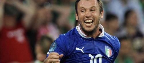 Antonio Cassano con la maglia dell'Italia