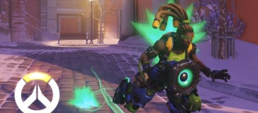 "As the name suggests, ""Overwatch"" players will play as Lucios to either boop or melee the ball into the net (via YouTube/PlayOverwatch)"