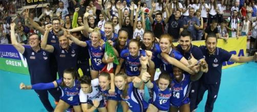 Immagine della vittoria delle ragazze, presa da oasport.it