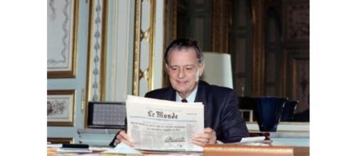 Michel Durafour à Saint-Etienne le 3 octobre 1989 ((c) Afp)