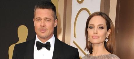 Are Brad Pitt and Angelina Jolie finally burying the hatchet for the sake of their six children? (via Blasting News library)
