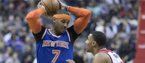 Carmelo Anthony could soon join Cleveland or Houston. Image Credit: Keith Allison / Flickr