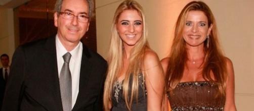 Ex-deputado Eduardo Cunha e família