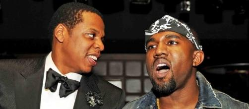 Former business partners Jay-Z and Kanye West are feuding. Photo via @Hollywood, YouTube.
