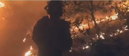Image by Courier Video/YouTube screencap. 2017 Goodwin Fire, Arizona