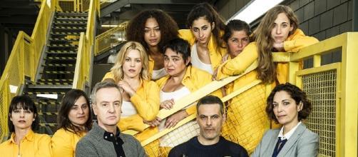 Las protagonistas de la serie en uno de los escenarios de la misma. Foto - atresplayer.com