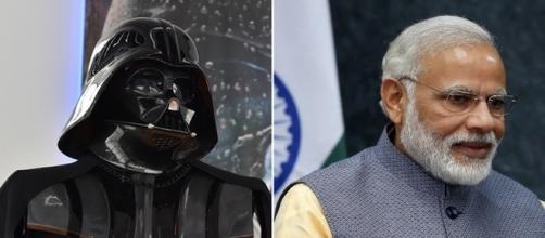 Líder da Índia 'homenageia' Darth Vader, ao tocar trilha sonora do vilão (Foto: AFP/Reuters)