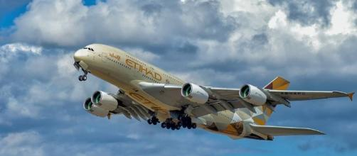 Passengers on Etihad bound for the U.S. can now bring their laptops. Photo via Etihad, Facebook.