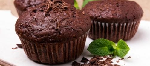Receta de magdalenas de chocolate sin gluten - Unareceta.com - unareceta.com