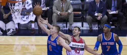 The Knicks are ready to make Kristaps Porzingis their main man next season – Keith Allison via WikiCommons