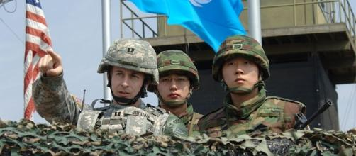 U.S. and South Korea troops monitor the demilitarized zone near North Korea - Wikimedia Commons - wikimedia.org