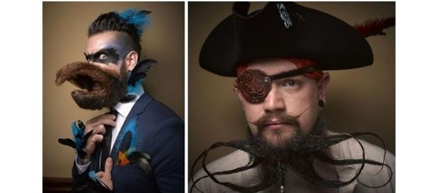Confira as barbas e bigodes mais bizarros da competição (Foto: Reprodução)