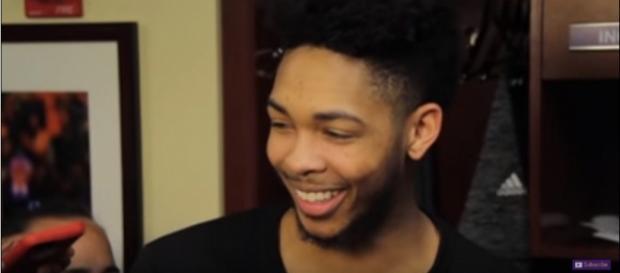 Brandon Ingram during a post-game interview. Photo - YouTube Screenshot/@LakersNation