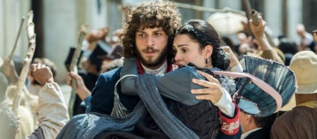 Em 'Novo mundo', Anna e Joaquim fogem de Thomas dentro de um balão