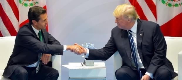 Enrique Peña Nieto se reúne con Donald Trump en el inicio de la cumbre del G20 (via Twitter - @presidenciaMX)