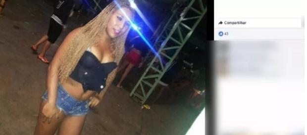 Larissa Valverde, 24 anos, foi morta no estacionamento de supermercado (Foto: Reprodução/ Facebook)