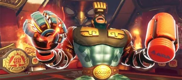 """Max Brass is coming to """"Arms"""" as a playable character this month. (YouTube/Nintendo)"""