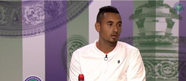 Nick Kyrgios during his post-game interview after a first-round exit at Wimbledon 2017. Photo - YouTube Screenshot/@Wimbledon