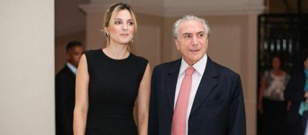 Primeira dama Marcela Temer e o marido presidente Michel Temer. ( Foto: Reprodução)