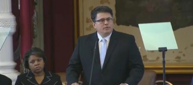Texas Secretary of State Rolando Pablos. / [Image screenshot via YouTube/Texas Sec State]