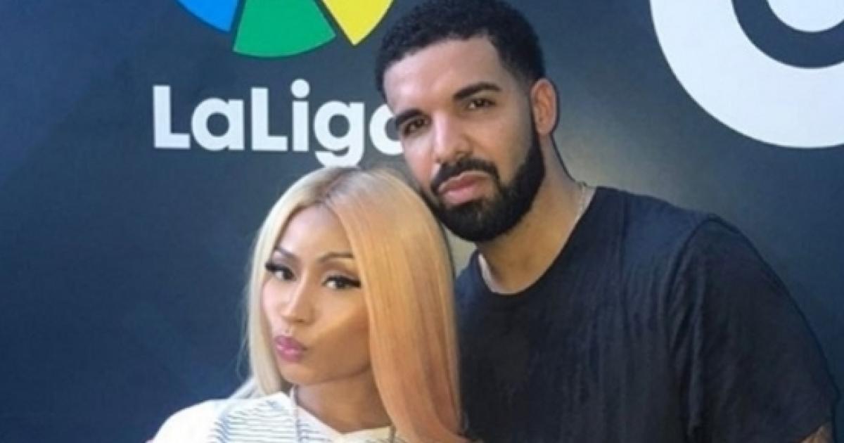 fd043d10f Drake é flagrado em clima íntimo com Nicki Minaj  veja