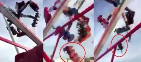 Imagens aterrorizantes mostram pessoas despencando de brinquedo