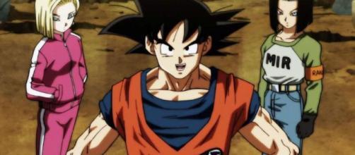 Goku e os andróides do universo 6