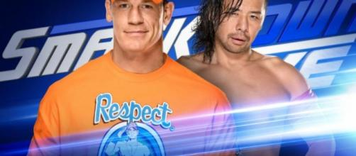 John Cena Vs. Shinsuke Nakamura - WWE SmackDown Poster/Youtube