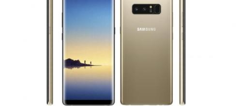 Leaked images showing the front, rear, and sides of the upcoming Galaxy Note 8. Image credit: Evan Blass / Twitter