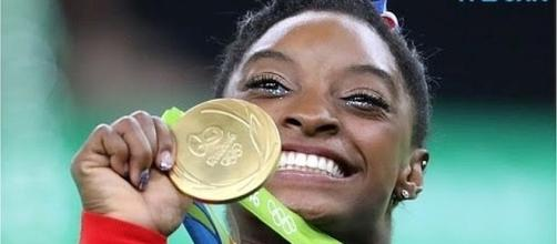 Simone Biles is getting Lifetime biopic in 2018 [Image: Wochit News/YouTube screenshot]