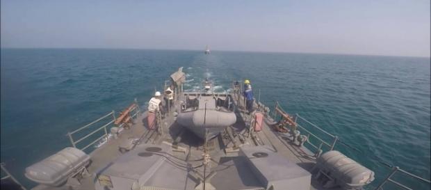 La USS Thunderbolt, recentemente protagonista di un incidente sfiorato con le navi iraniane nel Golfo Persico