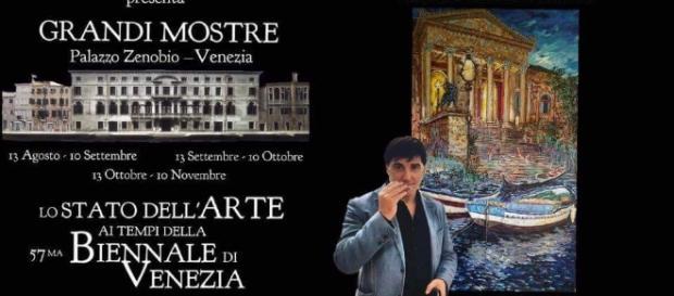 Locandina dell'evento alla Biennale di Venezia