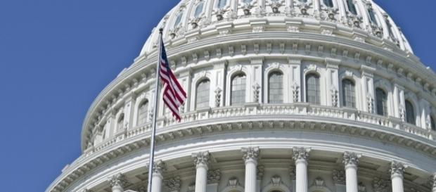 Rotunda/flag at U.S. Capitol in Washington, D.C. / [Image by Tim Evanson via Flickr, CC BY-SA 2.0