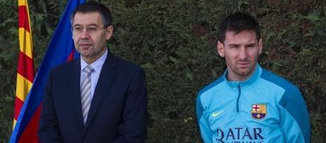 Bartomeu y Messi juntos en una fotografía