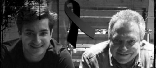 Abel e seu filho falecido neste sábado, João Pedro Braga (Foto: Reprodução/ Montagem)