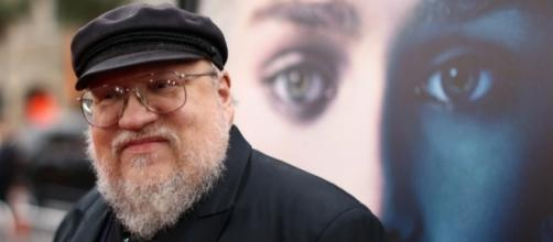 "George RR Martin admitted that he is now working very hard to finish ""The Winds of Winter"" book. Photo by Team Coco/YouTube Screenshot"
