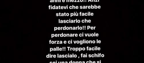 _Le parole di Valeria su Instagram