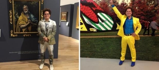 7 looks de Romero Britto que são mais chamativos que seus quadros (Foto: Reprodução/Instagram)