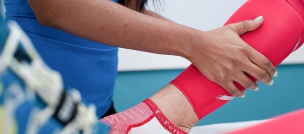 Lower leg massage at Phila Massages.
