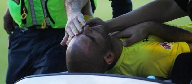 Lucero Alvarez recibió un fuerte golpe en el ojo, estuvo a tres centímetros de perderlo.