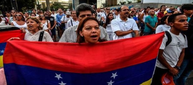 Manifestation dans les rues de Caracas