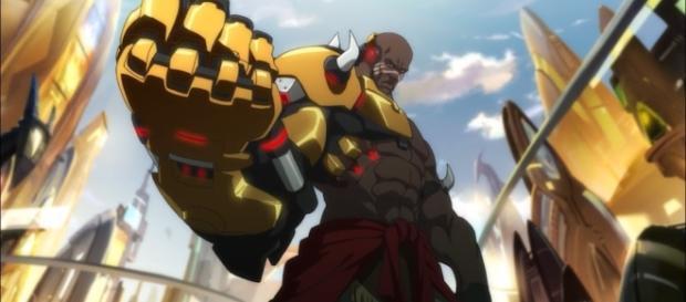 'Overwatch' hero Doomfist is one of Talon's leaders. (image source: YouTube/IGN)
