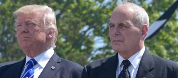 President Trump, John Kelly. / [Image by DHS.GOV via Flickr, US Government Work]