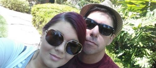 Amber Portwood and Matt Baier pose for a vacation photo. (Photo via Instagram)