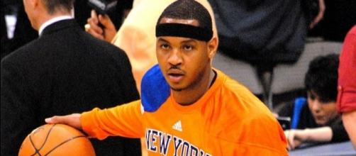 Carmelo Anthony's workout video was taken around 1:45 a.m. Sunday on a soccer field in Manhattan (Image Credit: Scott Mecum/WikiCommons)