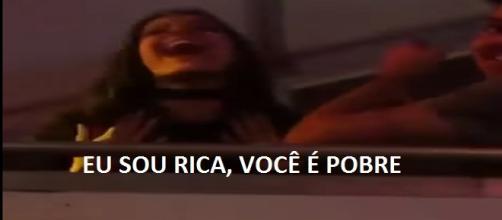 Emilly diz frase polêmica em camarote (Foto: Captura de vídeo)