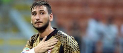 Gigio Donnarumma giovane portiere del Milan