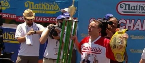 Joey Chestnut Wins 10th Nathan's Hot Dog Contest from YouTube/WCCO - CBS Minnesota