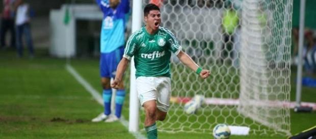 Cristaldo se destacou vestindo a camisa do Palmeiras. ( Foto: Reprodução)