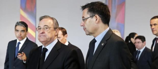 Florentino y Bartomeu en los actos por Johan Cruyff | Defensa Central - defensacentral.com